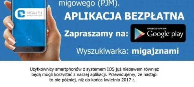 Aplikacja Migaj z nami: PJM