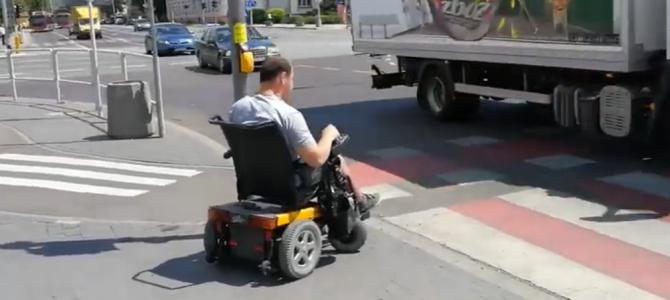 Droga do pracy na wózku Rampowicza Krystiana