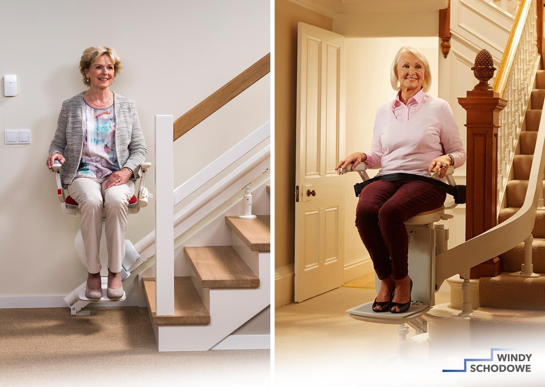 Krzesełko schodowe prostoliniowe i krzywoliniowe