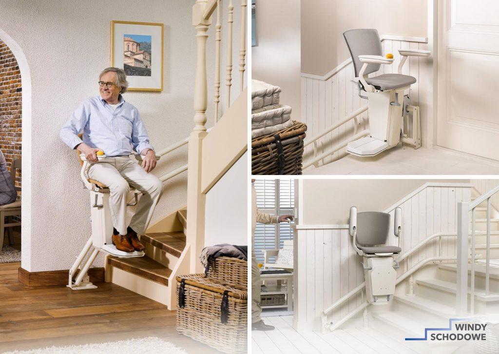 Krzesełko schodowe Otolift TWO na torze krzywoliniowym