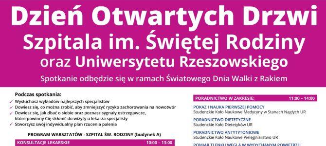 Dzień Otwartych Drzwi Szpitala im. Św. Rodziny w Rudnej oraz Uniwersytetu Rzeszowskiego