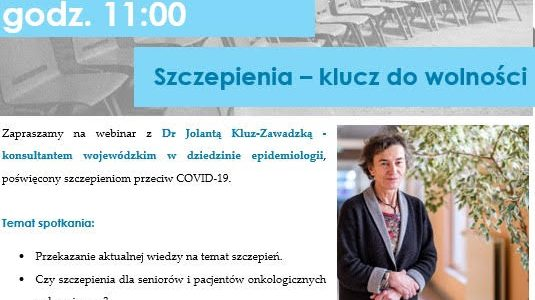 Zaproszenie na webinarium dotyczące szczepień (18 lutego, czwartek, godz. 11:00)
